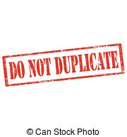Do Not Duplicate Stamp   Grunge Rubber Stamp With Text Do