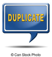 Duplicate Sign Or Icon Double Product Or Document Label Or