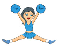 Cheerleading Graphics And Clipart - Clipart Kid