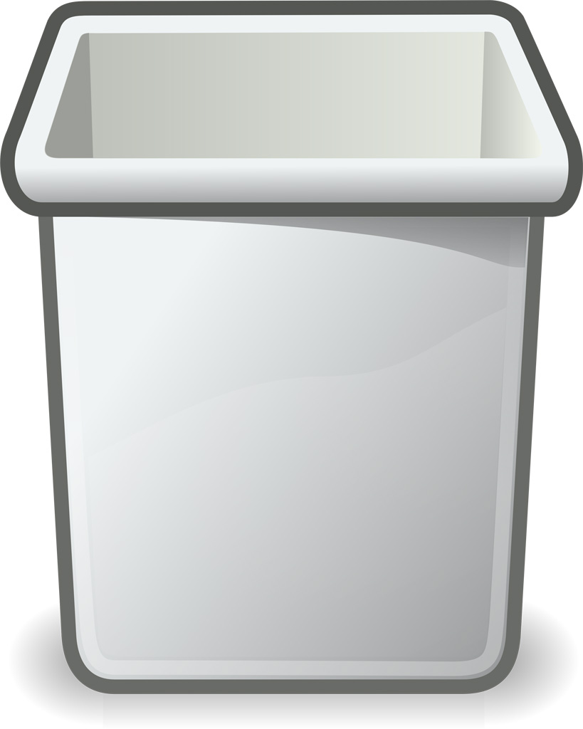 Trash Can Black And White Clipart - Clipart Suggest