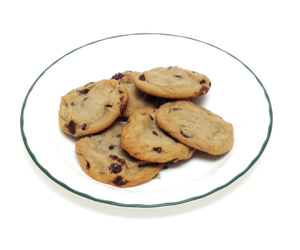 Plate Of Cookies Clip Art Chocolate Chip Cookies On A