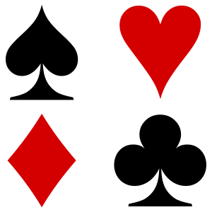 The Four French Playing Cards Suits Used Primarily In The English