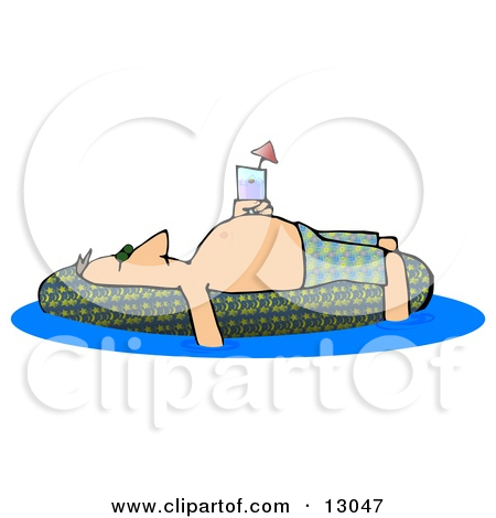 And Soaking In An Inflatable Kiddie Pool Clipart Illustration By Djart