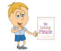 Please No Talking Animated Clipart - Clipart Kid