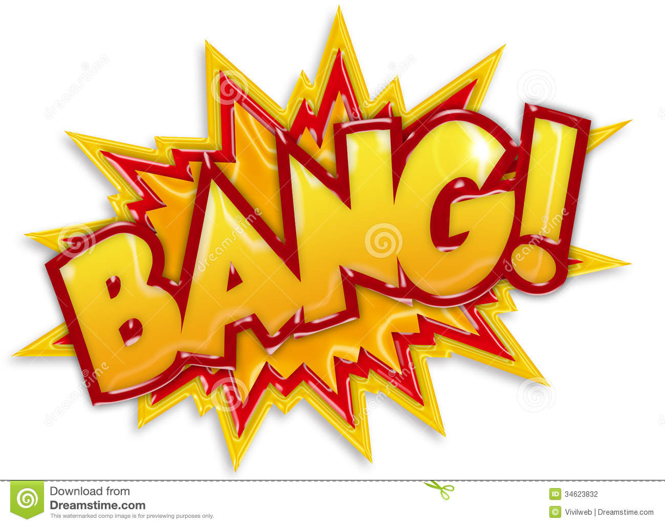 Bang Cartoon Stock Photography   Image  34623832