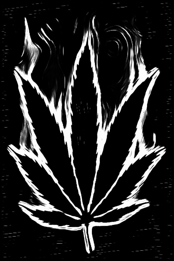 marijuana black and white clipart clipart suggest