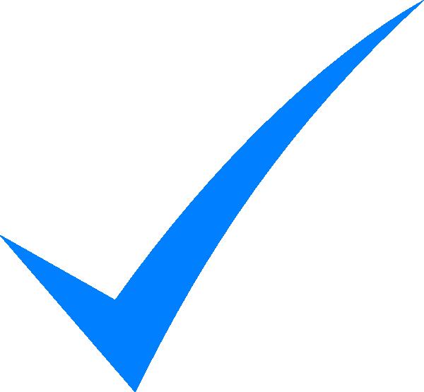 Blue Check Mark Clip Art At Clker Com   Vector Clip Art Online