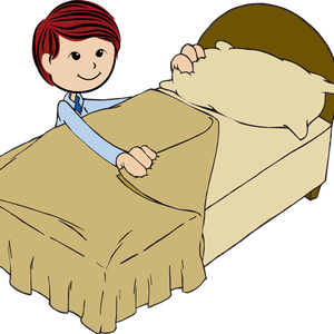Boy Make Bed Clipart Clip Art Of A Boy Making His