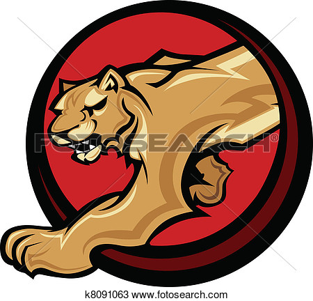 Clipart   Cougar Mascot Body Vector Graphic  Fotosearch   Search Clip