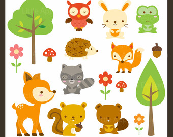 Clipart Forest Animal Clip Art Cute Animal Clipart Owl Clipart