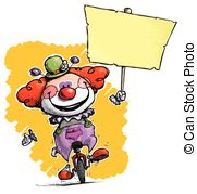 Clown Unicycle Besitz Plakat Eps Vektor