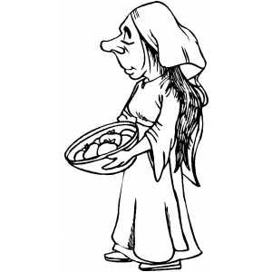 Free Medieval Clip Art   Poor Peasant Coloring Page   Clip Art