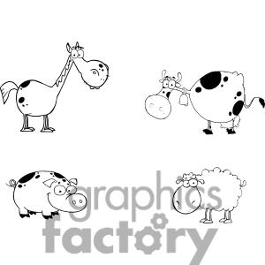 Graphicsfactory Comfarm Animals Cartoon
