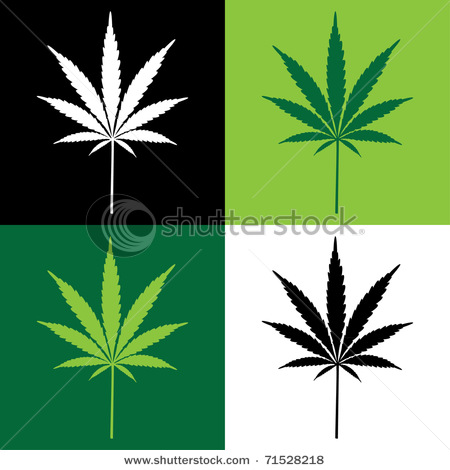 Marijuana Pot Leaf Mascot Black And White Vector Coloring Page By