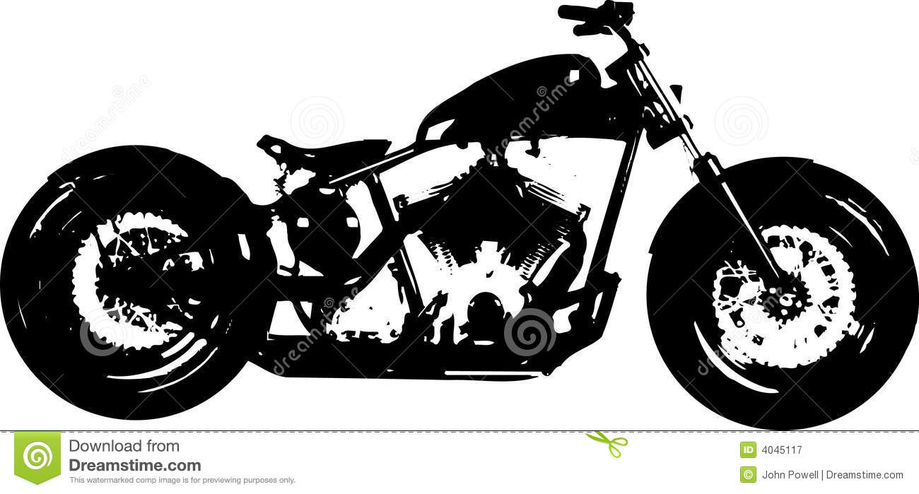 Motorcycle Chopper Bomber Silhouette Editorial Photography   Image