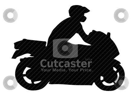Motorcycle Silhouette Stock Vector Clipart Motorcycle Silhouette By