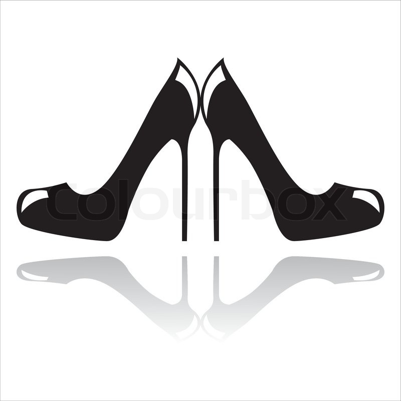 high heel black and white clipart clipart suggest. Black Bedroom Furniture Sets. Home Design Ideas