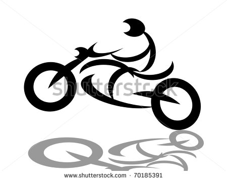 Silhouette Motorcycle White Stock Photos Illustrations And Vector