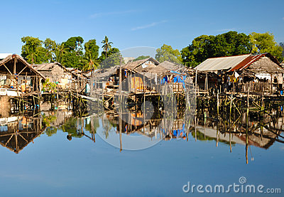 Slum Houses On Water Stock Photography   Image  30841442