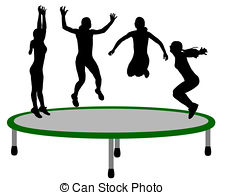 Trampoline Illustrations And Clip Art  539 Trampoline Royalty Free