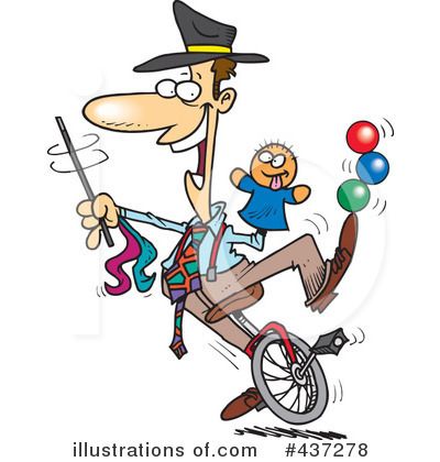 Unicycle Clipart  437278 By Ron Leishman   Royalty Free  Rf  Stock