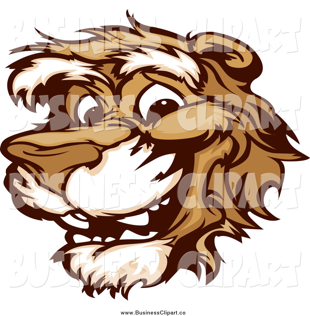 Vector Clip Art Of A Smiling Happy Cougar Mascot Face By Chromaco