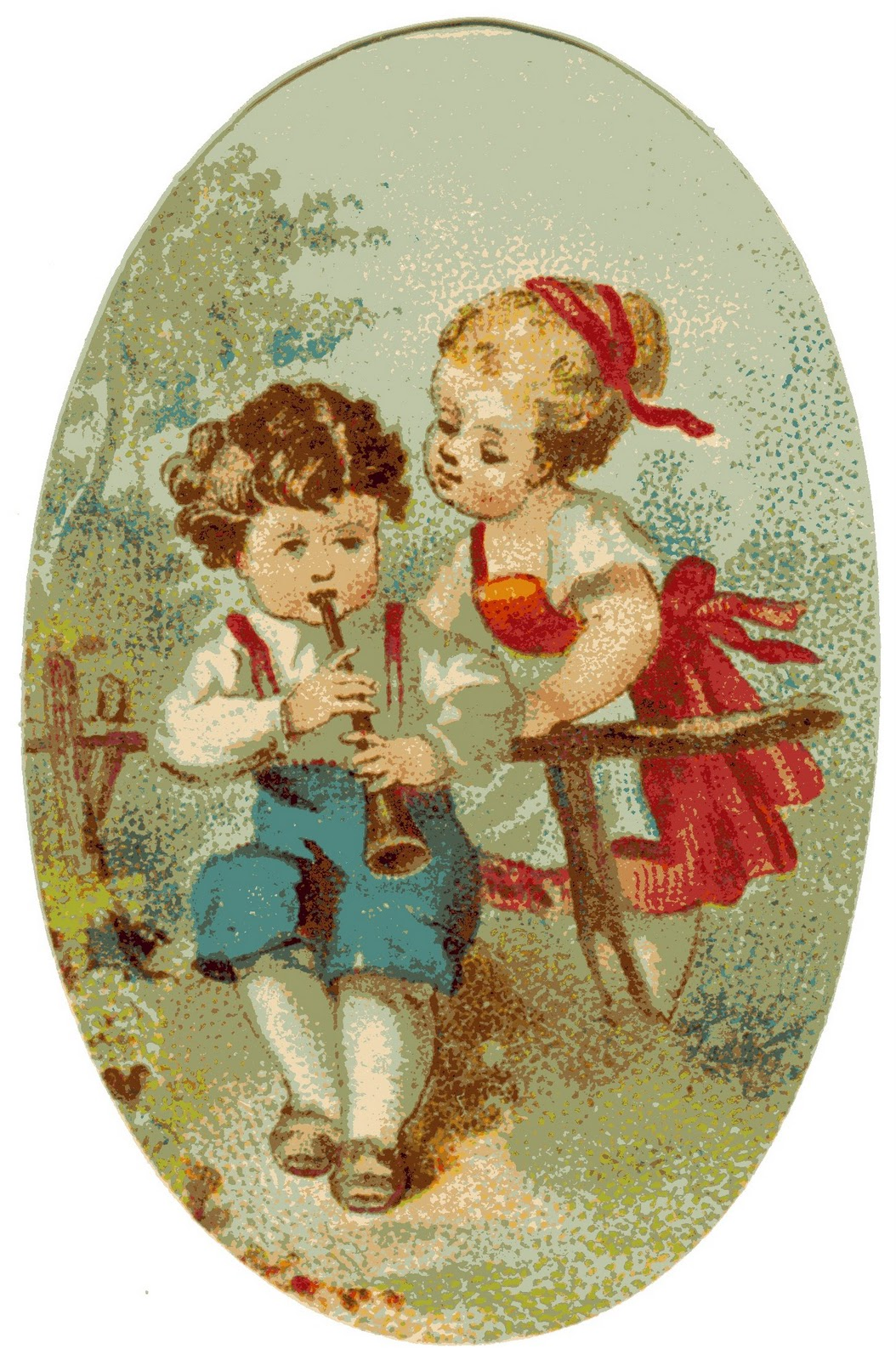 Vidi Vintaged  Free Clip Art Week   Victorian Children Cameo Graphic