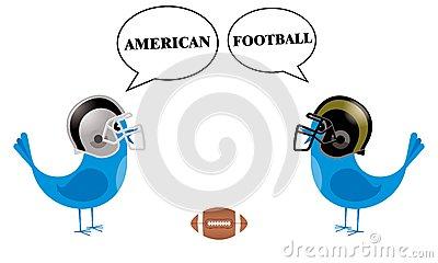 Birds With Football Helmets Talking Two Little Blue Birds With Speech
