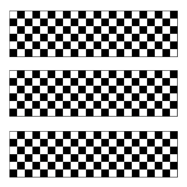 Black White Checkered Flag Pencils With Eraser In 5 1090 Black White