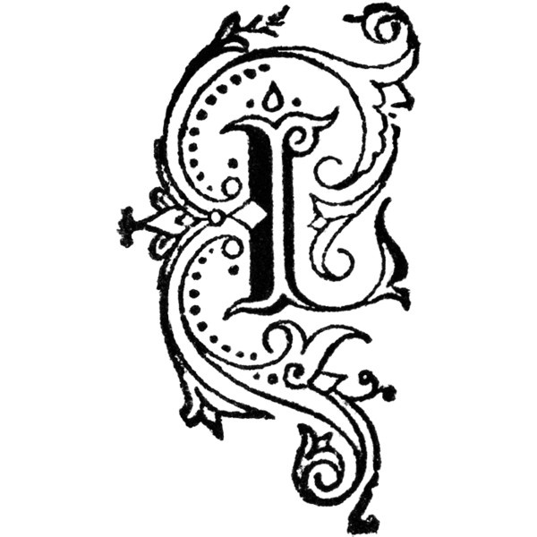 Decorative Letter L Clipart Found On Polyvore  Art Lettering Letter
