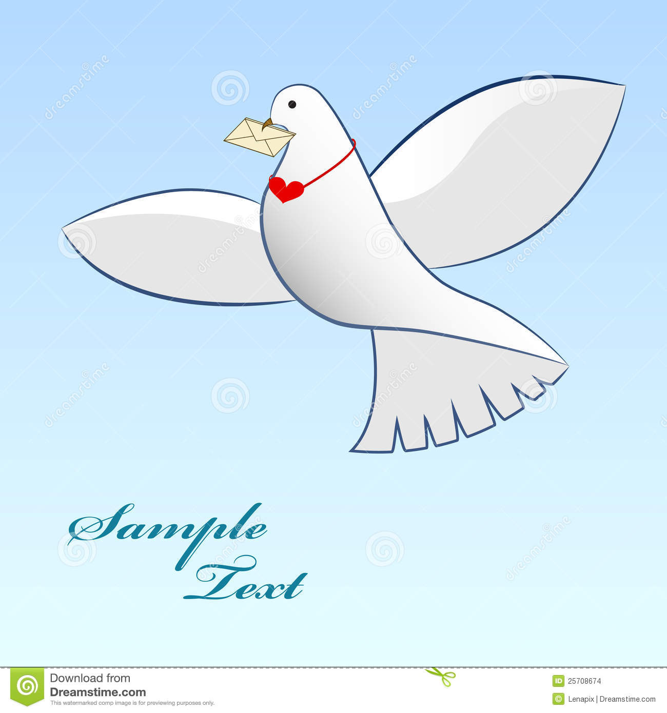 Dove Carrying Love Message  Stock Images   Image  25708674
