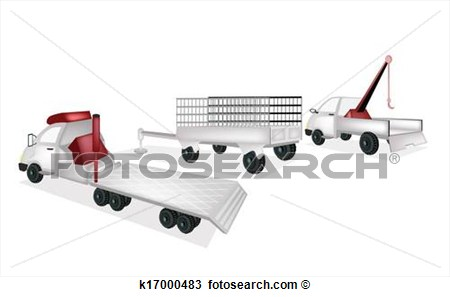 Utility Trailer Towing Truck Clipart - Clipart Kid