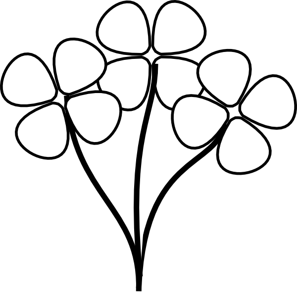free flower black and white clipart - clipart suggest  clipart