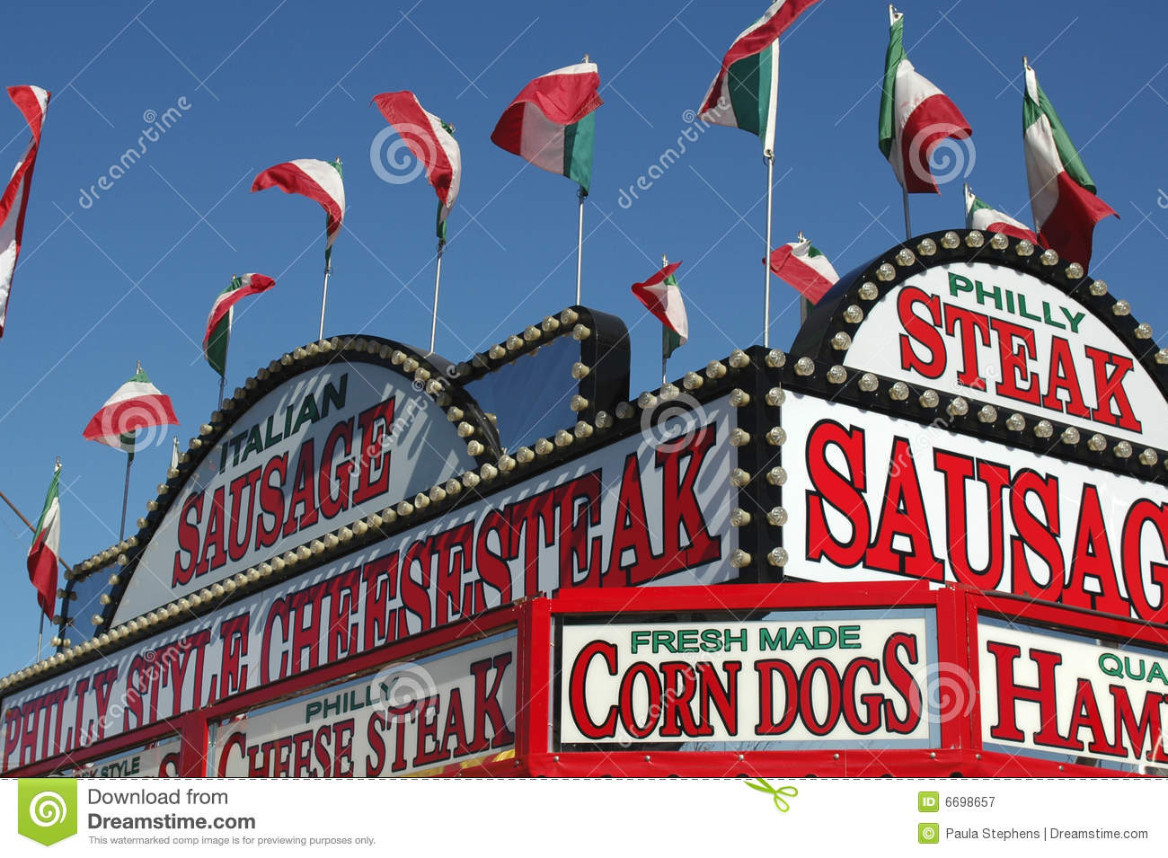 Food Booth At A County Fair Royalty Free Stock Photography   Image