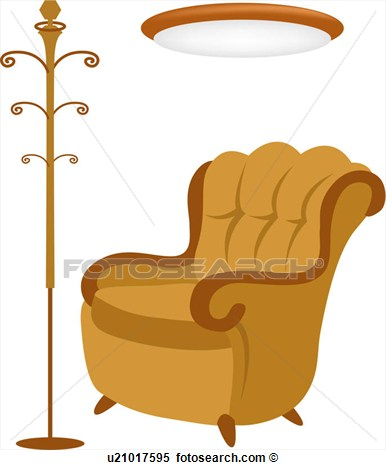 Hanger Clothes Rack Furnishings Sofa View Large Clip Art Graphic