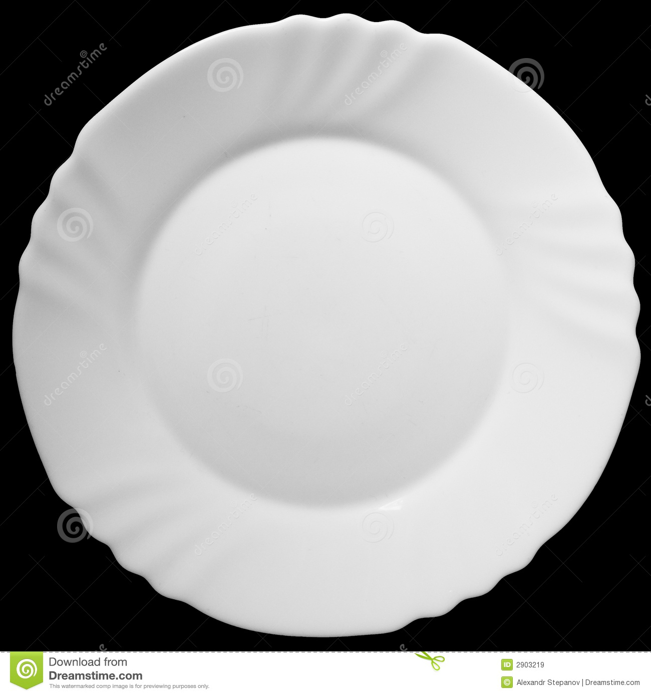 Plate Clipart Black And White The White Plate On A Black