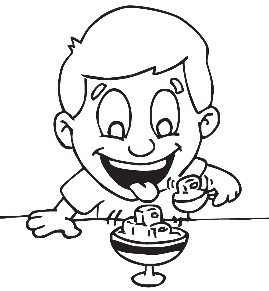 Eating Lunch Black And White Clipart - Clipart Suggest