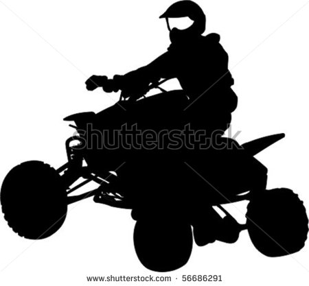 Quad Bike Silhouette Stock Vector Illustration 56686291   Shutterstock