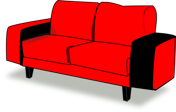 Red Couch Clip Art At Clker Com   Vector Clip Art Online Royalty Free
