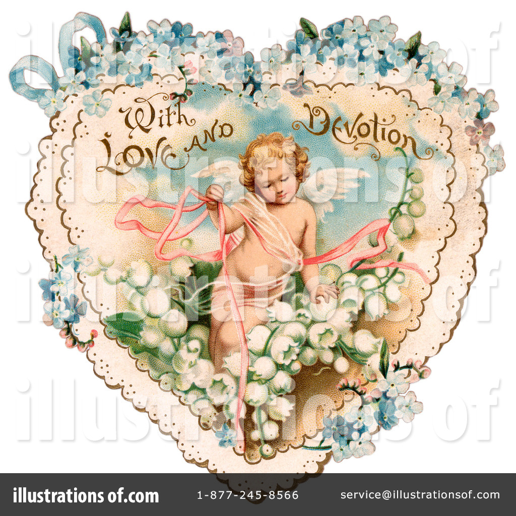Royalty Free  Rf  Victorian Valentine Clipart Illustration  28817 By