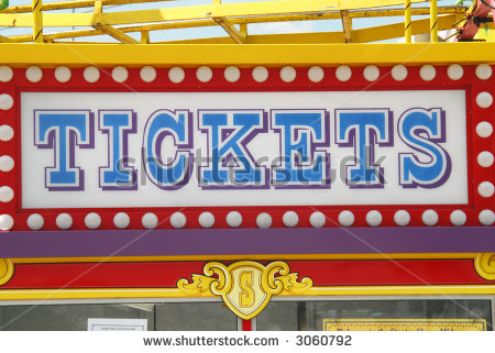 Sign On The Tickets Booth In A Fair  Sandford Florida    Stock Photo