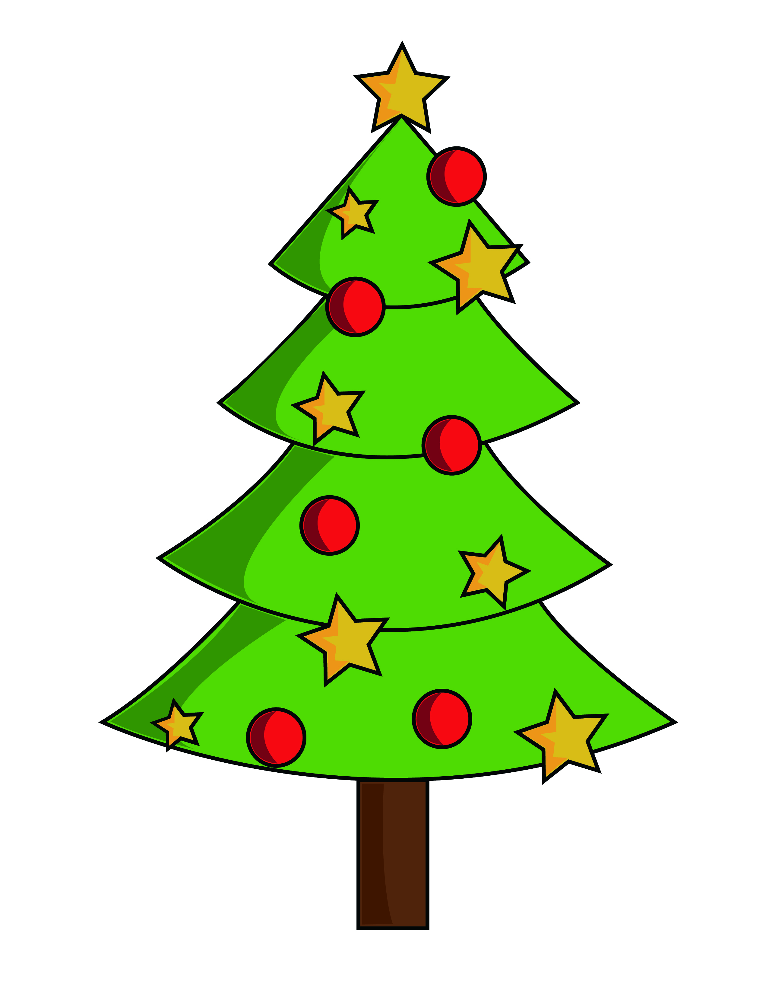 Xmas Tree With Words On It In Clipart - Clipart Suggest