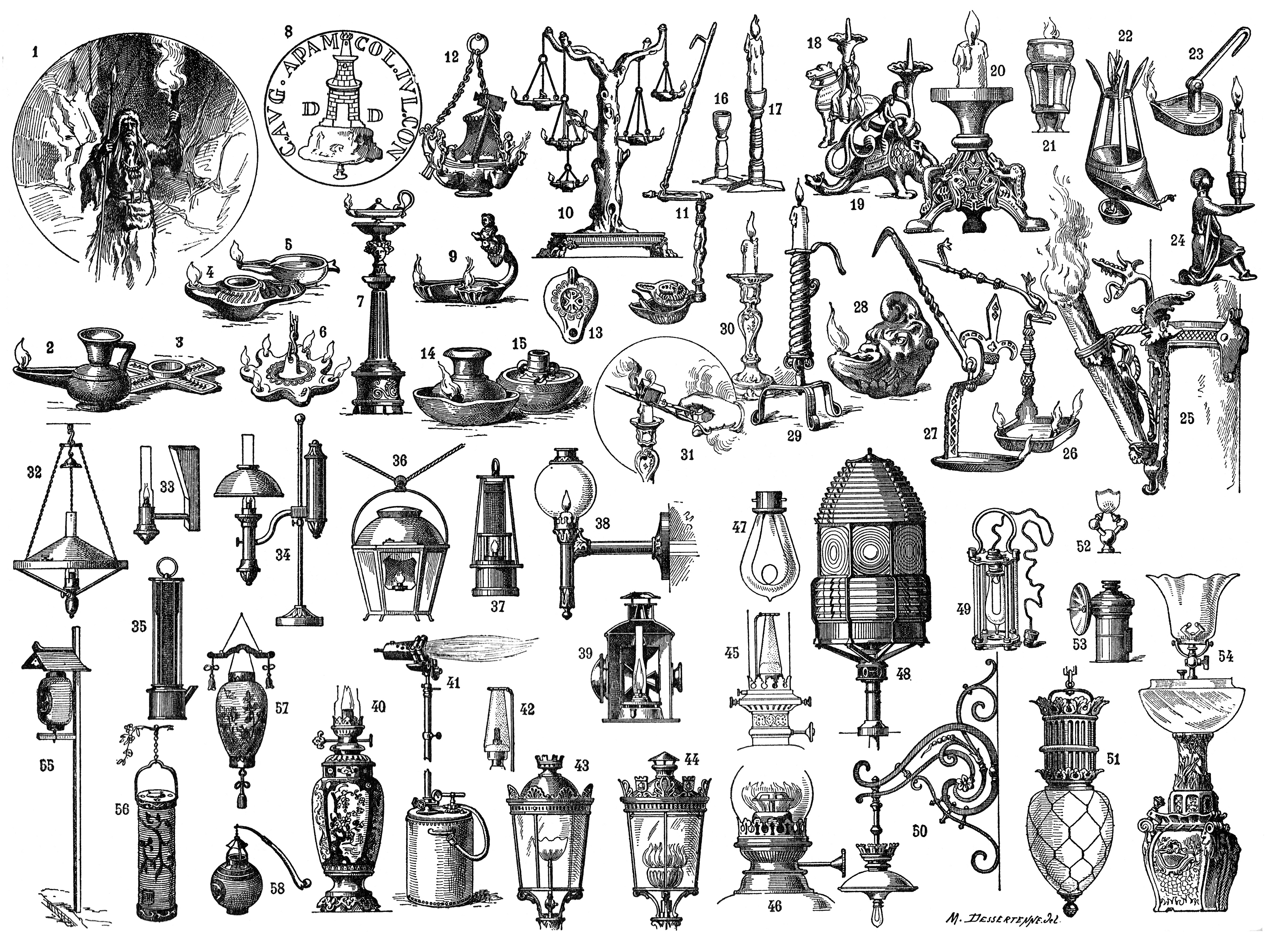 Antique Clip Art Collection