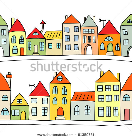 Houses In A Row Stock Photos Images   Pictures   Shutterstock
