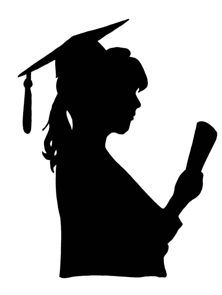 Graduation Female Clipart