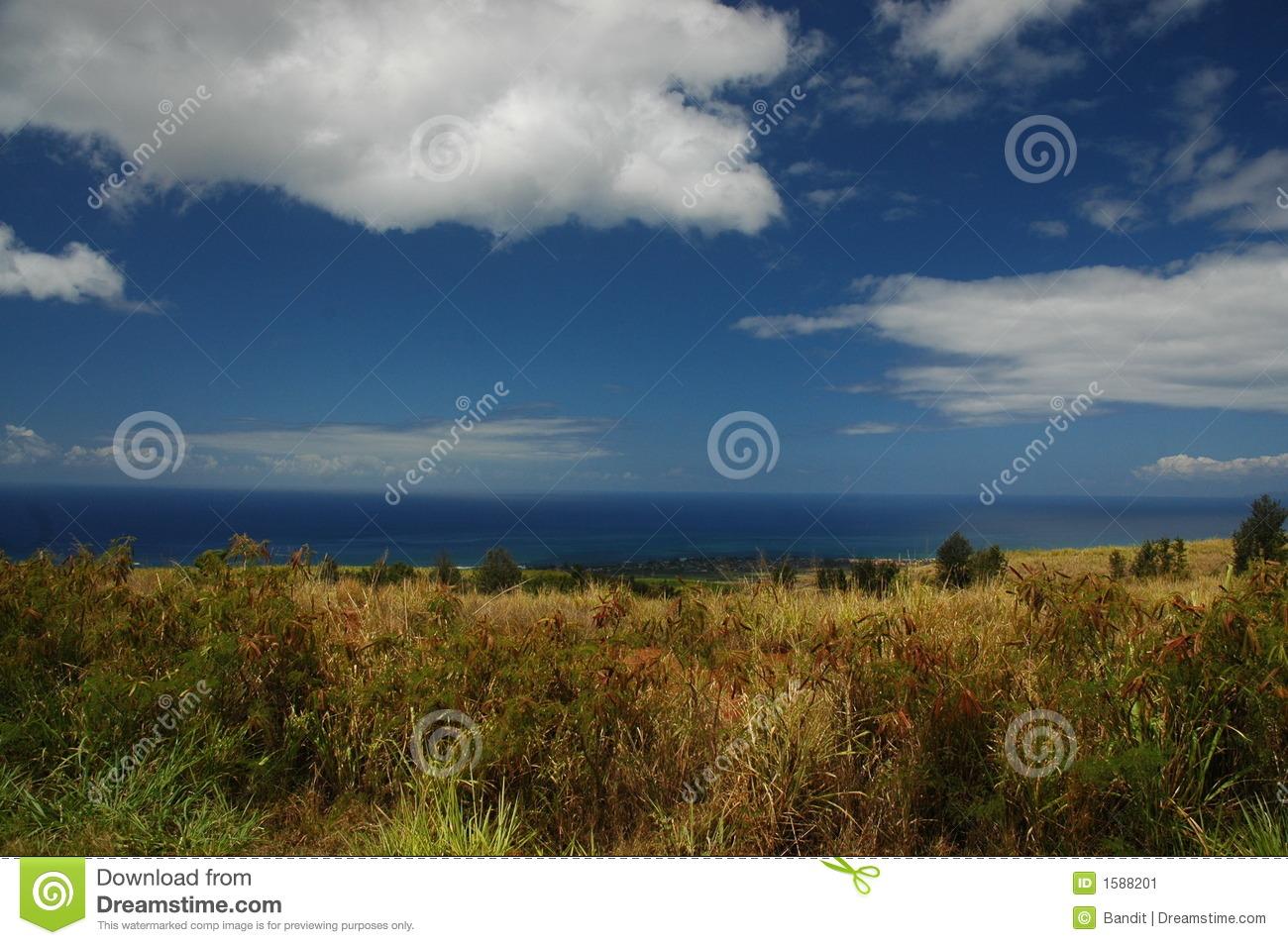 Kauai Land Sea And Sky Stock Image   Image  1588201