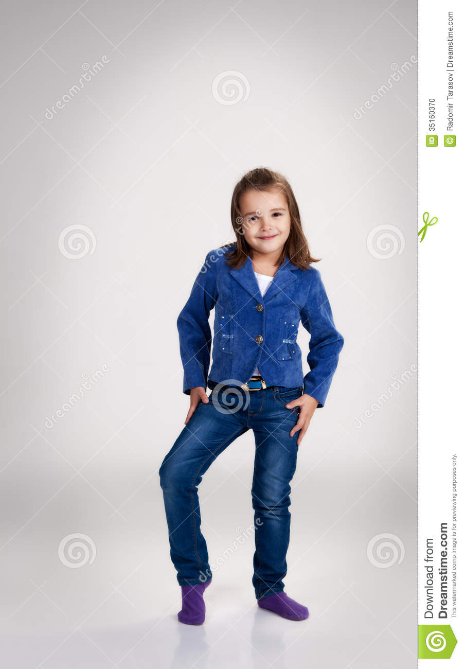 Little Girl Jeans Cliparts on School Jumper Clipart