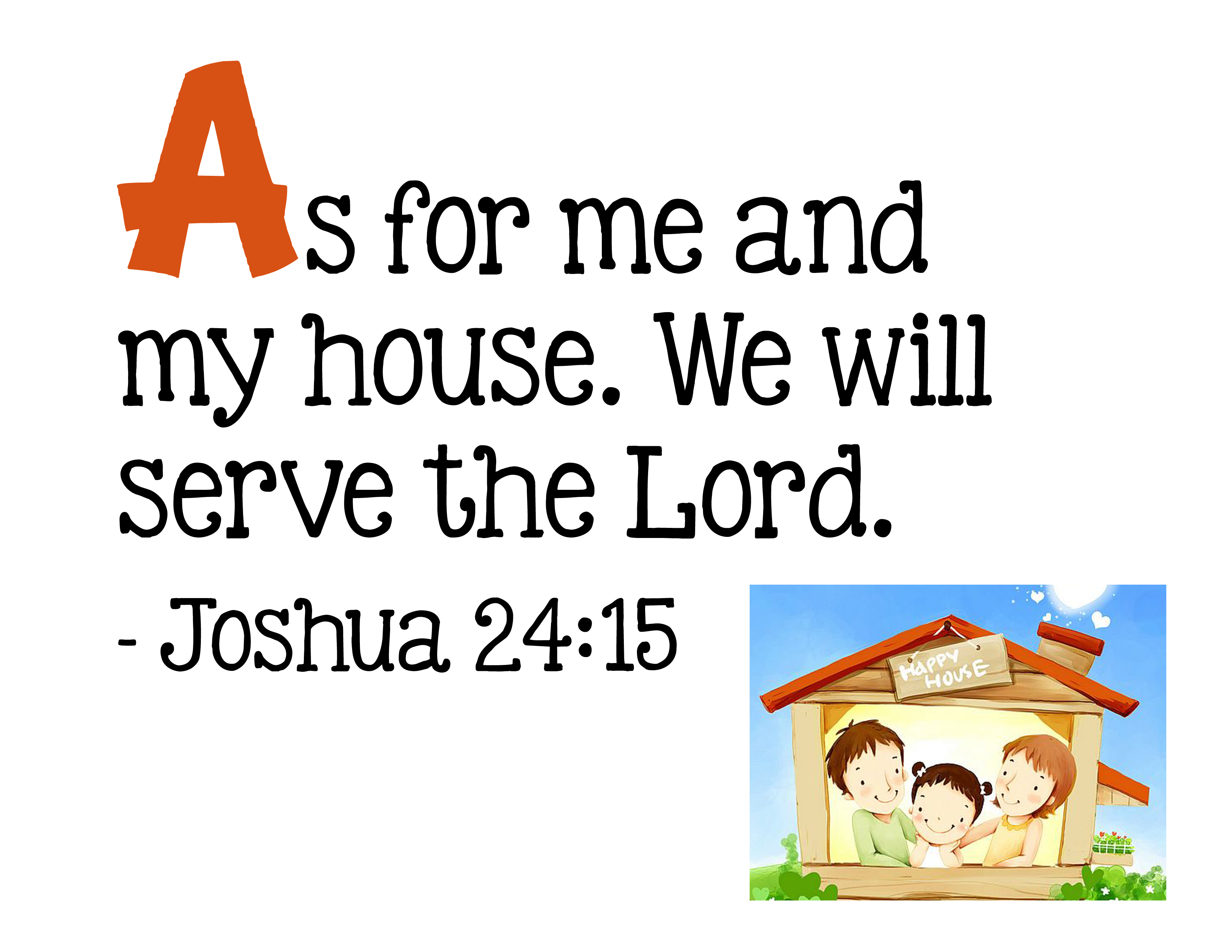 My House We Will Serve The Lord  Joshua 24 15   Intentionalmomblog