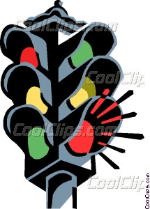 Road Traffic Light Red Green And Yellow Signal Free Vector Clipart