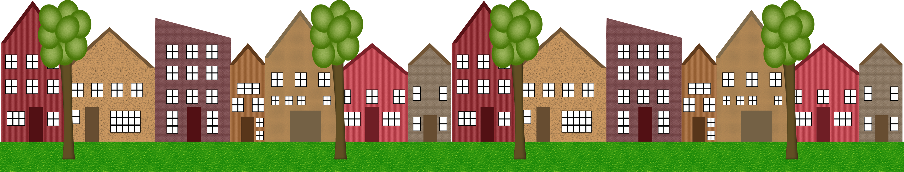 Clip Art Of Homes In A Row Clipart - Clipart Suggest